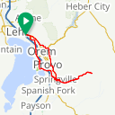 Map image of a Route from August 27, 2015