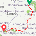 Map image of a Route from August 29, 2015