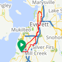 Map image of a Route from August 30, 2015