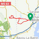 Map image of a Route from September  1, 2015