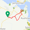 Map image of a Route from September  3, 2015