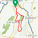 Map image of a Route from September  7, 2015
