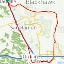 Map image of a Route from September  8, 2015