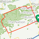 Map image of a Route from September  9, 2015
