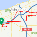 Map image of a Route from September 16, 2015