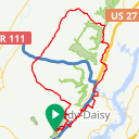 Map image of a Route from September 17, 2015