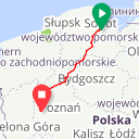 Map image of a Route from April  3, 2012