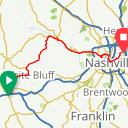 Map image of a Route from September 26, 2015