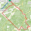 Map image of a Route from September 27, 2015