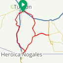 Map image of a Route from October  1, 2015