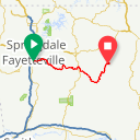 Map image of a Route from October 16, 2015