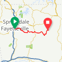 Map image of a Route from October 21, 2015