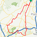 Map image of a Route from October 22, 2015