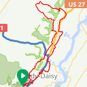 Map image of a Route from November 18, 2015