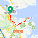 Map image of a Route from November 22, 2015