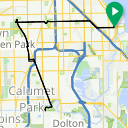 Map image of a Route from November 24, 2015