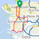 Map image of a Route from November 28, 2015