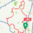 Map image of a Route from November 29, 2015