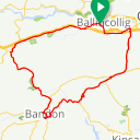 Map image of a Route from December  3, 2015