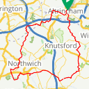 Map image of a Route from December  5, 2015