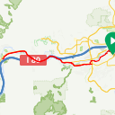 Map image of a Route from May  2, 2012