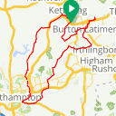 Map image of a Route from December 10, 2015