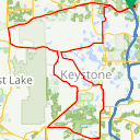 Map image of a Route from December 31, 2015