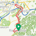 Map image of a Route from January  1, 2016