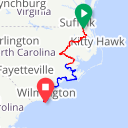 Map image of a Route from January 15, 2016