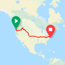 Map image of a Route from January 21, 2016