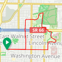 Map image of a Route from January 23, 2016