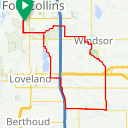 Map image of a Route from January 24, 2016
