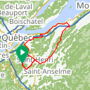Map image of a Route from January 25, 2016