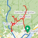 Map image of a Route from January 28, 2016