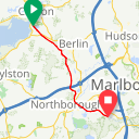 Map image of a Route from May 23, 2012