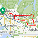 Map image of a Route from February 11, 2016