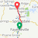 Map image of a Route from February 16, 2016