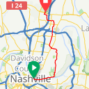 Map image of a Route from February 26, 2016