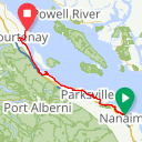 Map image of a Route from February 28, 2016