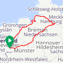 Map image of a Route from March  9, 2016