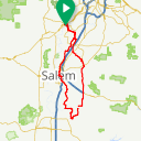 Map image of a Route from March 22, 2016