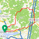Map image of a Route from March 23, 2016