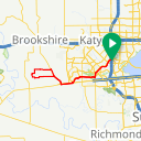 Map image of a Route from March 24, 2016