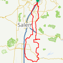 Map image of a Route from March 29, 2016