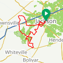 Map image of a Route from April  1, 2016