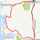 Map image of a Route from April  4, 2016