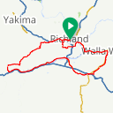 Map image of a Route from April  6, 2016