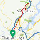 Map image of a Route from April  7, 2016