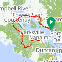 Map image of a Route from April  8, 2016