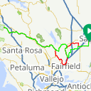 Map image of a Route from April 12, 2016